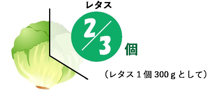 レタス2/3個分の食物繊維のイラスト